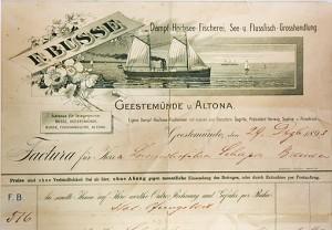 Historisches Dokument der Firma F. Busse