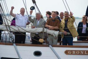 Politiker an Bord Grönland