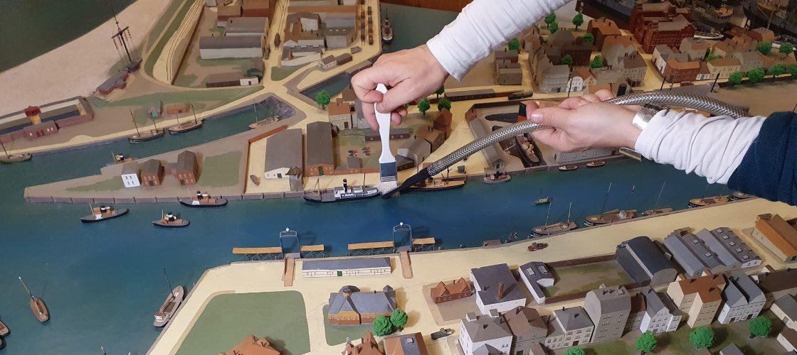 Reinigung Fischereihafenmodell