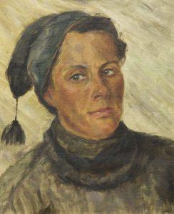 Gemälde Selbstporträt Grete Thiele